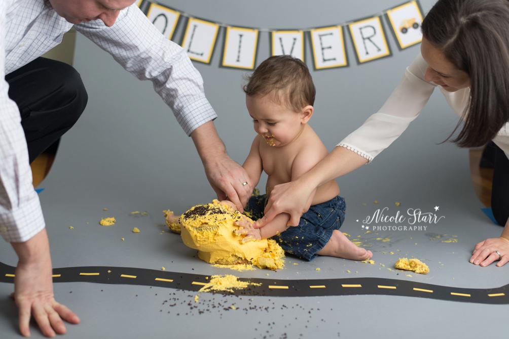 Saratoga Albany NY baby first birthday cake smash photographer