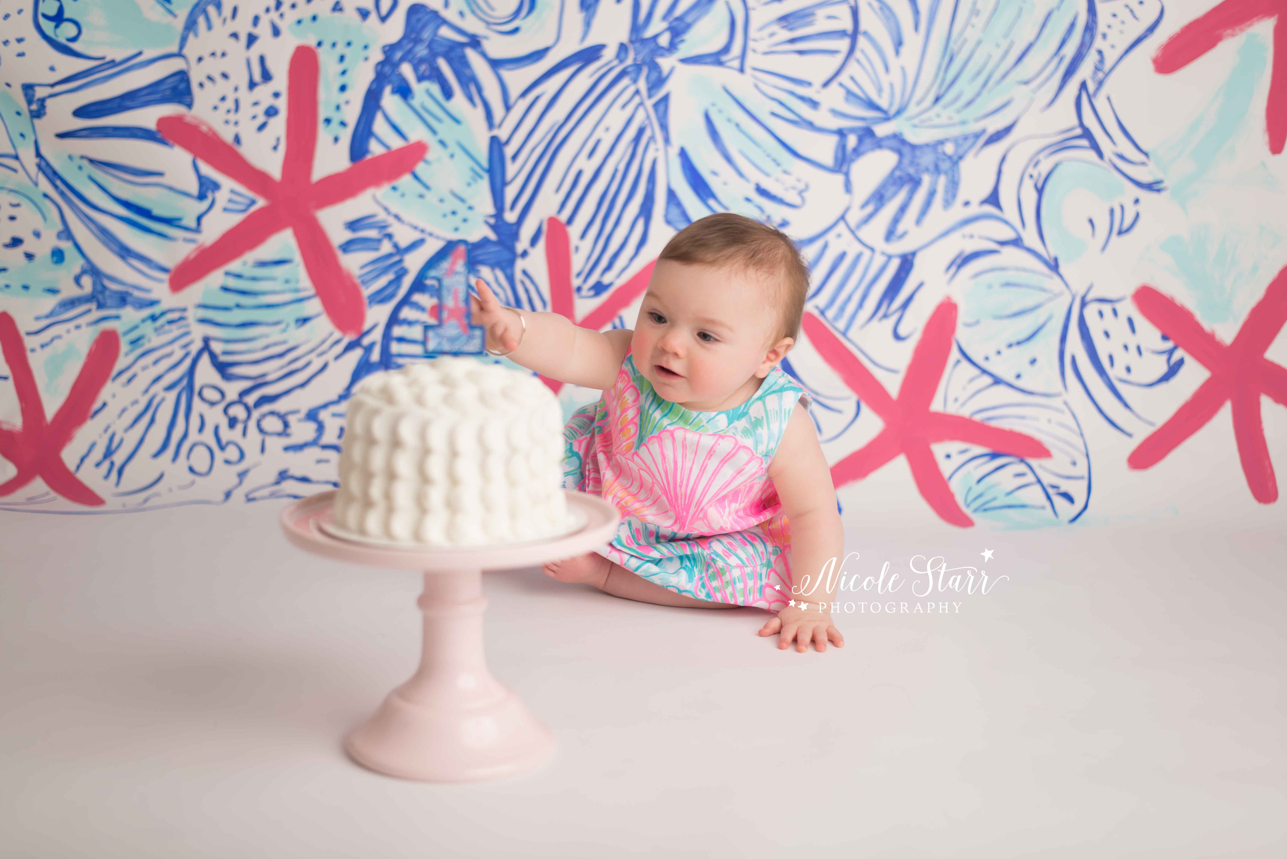 lilly pulitzer cake smash saratoga springs albany baby photography