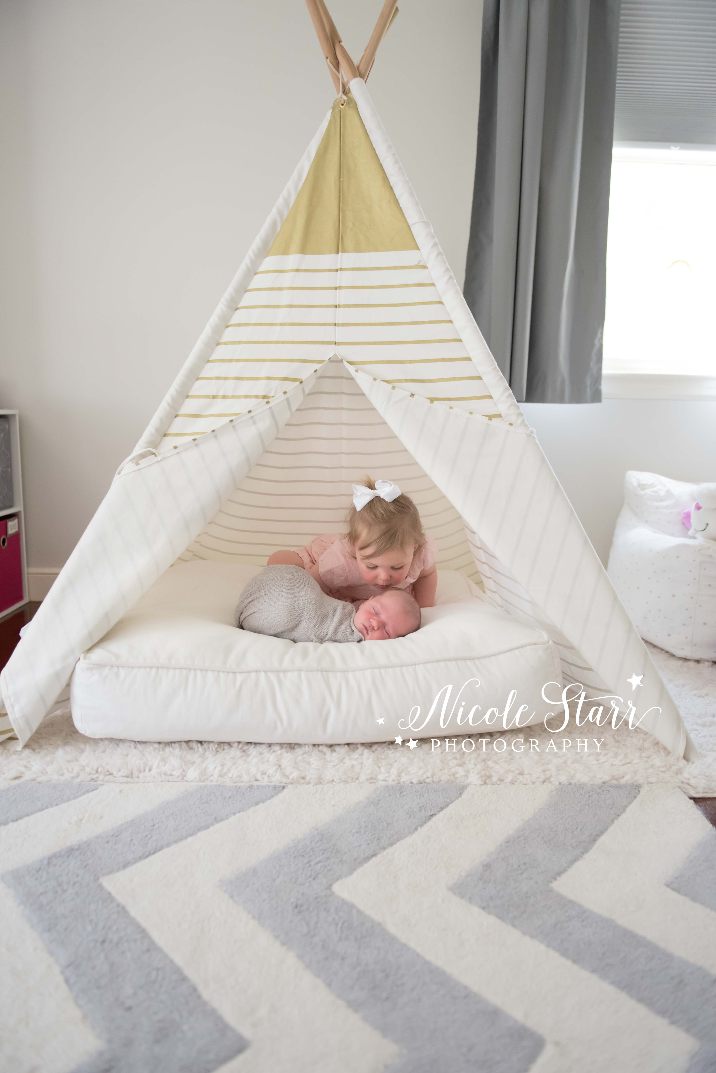 light and airy nursery gray gold teepee.jpg