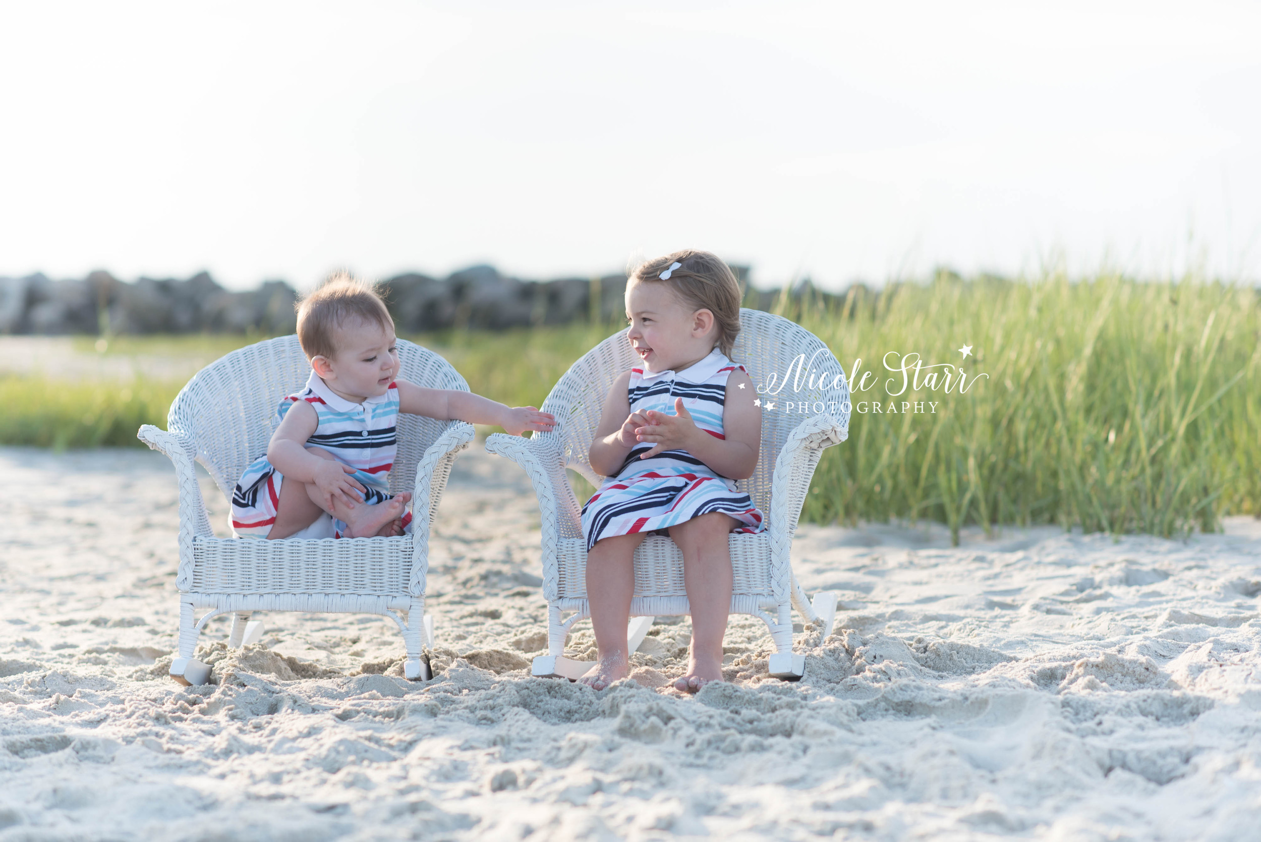 July 4 Photo Shoot on the Beach with New York Photographer Nicole Starr Photography, Cape Cod portrait session
