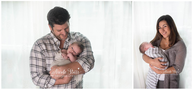 Saratoga Springs NY lifestyle newborn photo session at home