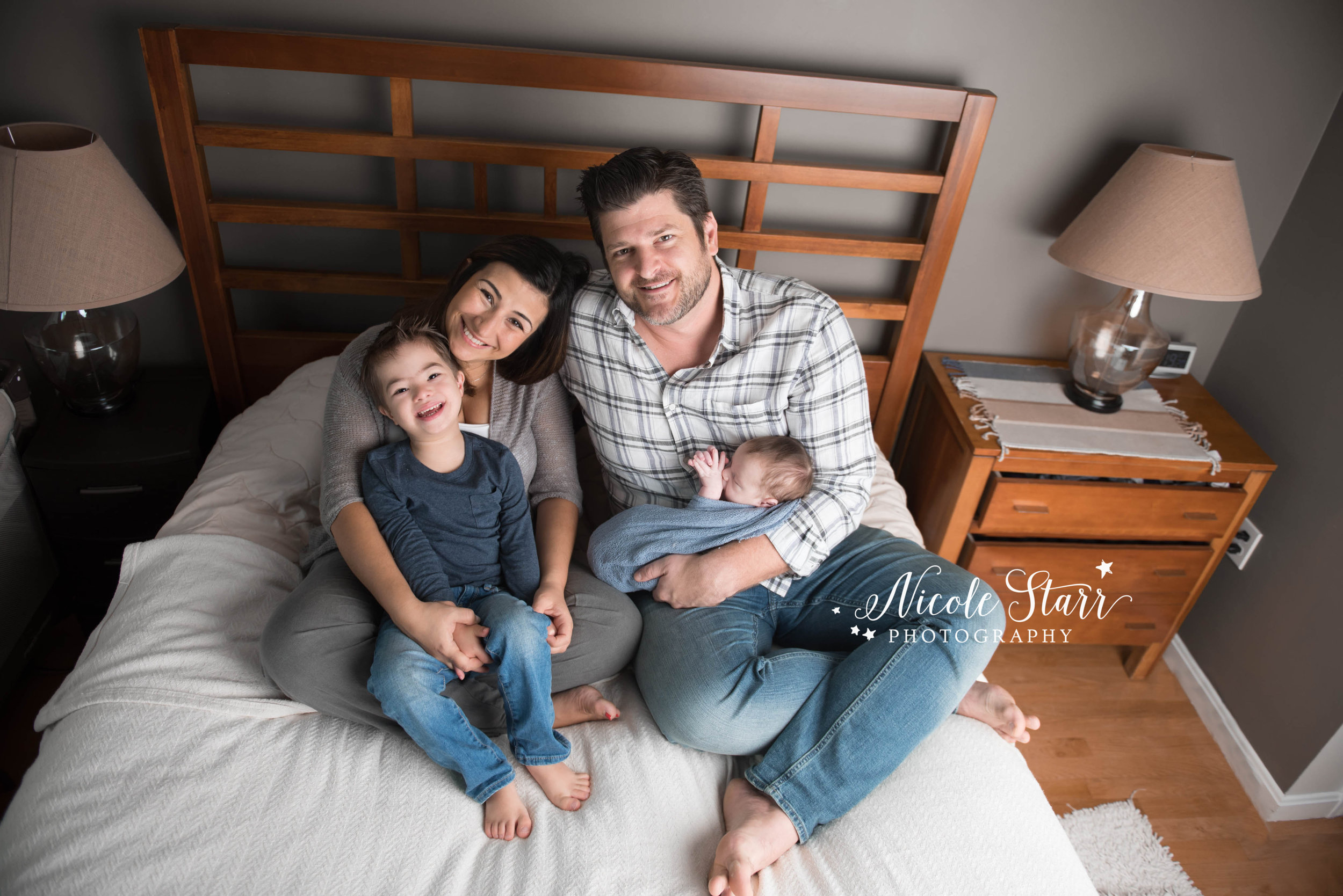 Saratoga Springs lifestyle newborn photo session at home
