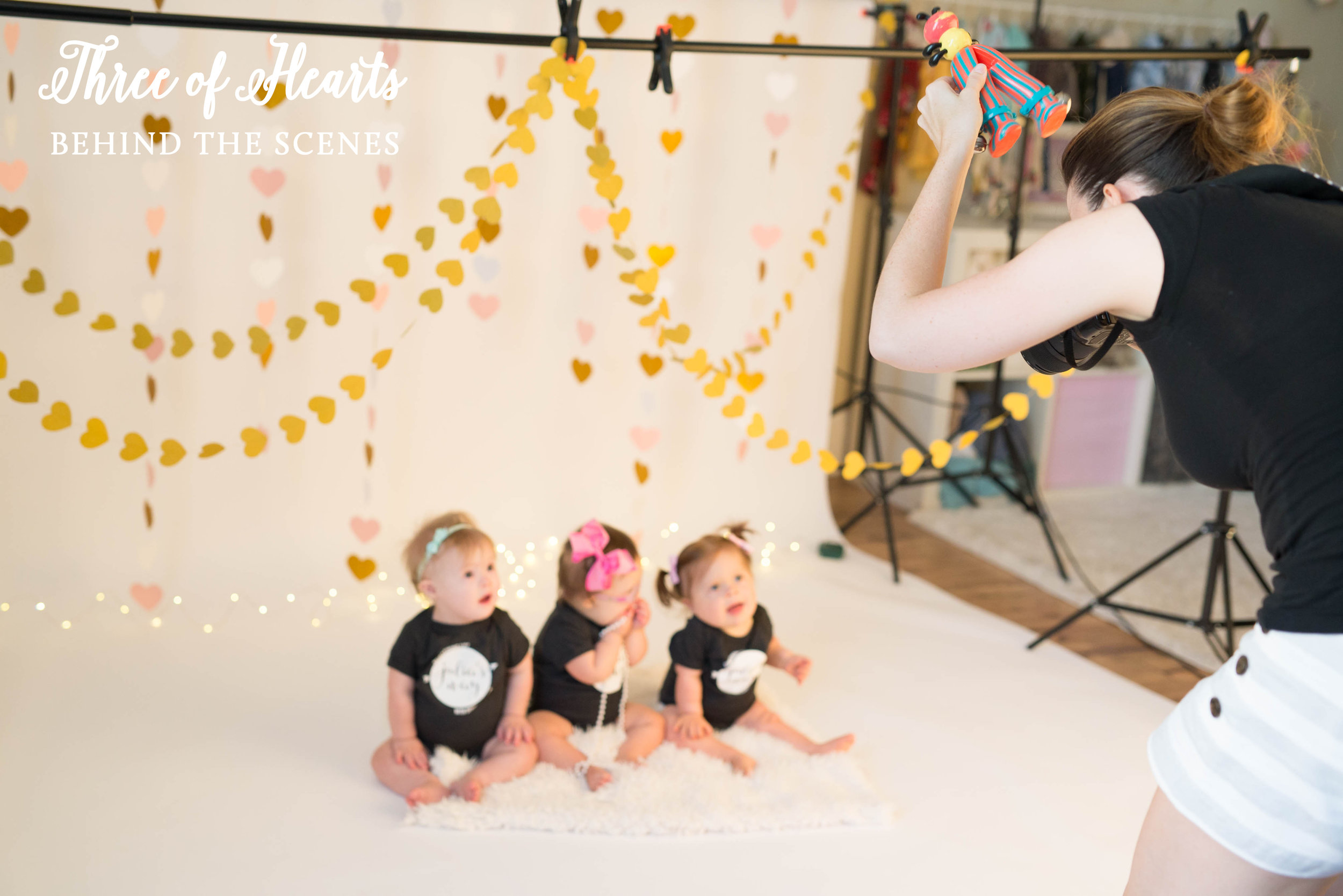 Behind the scenes of our Three of Hearts cake smash with Nicole Starr Photography.  These three heart warriors all happen to have Down syndrome and survived major heart surgeries in their first year of life.  They also share birthdays three days in a row!