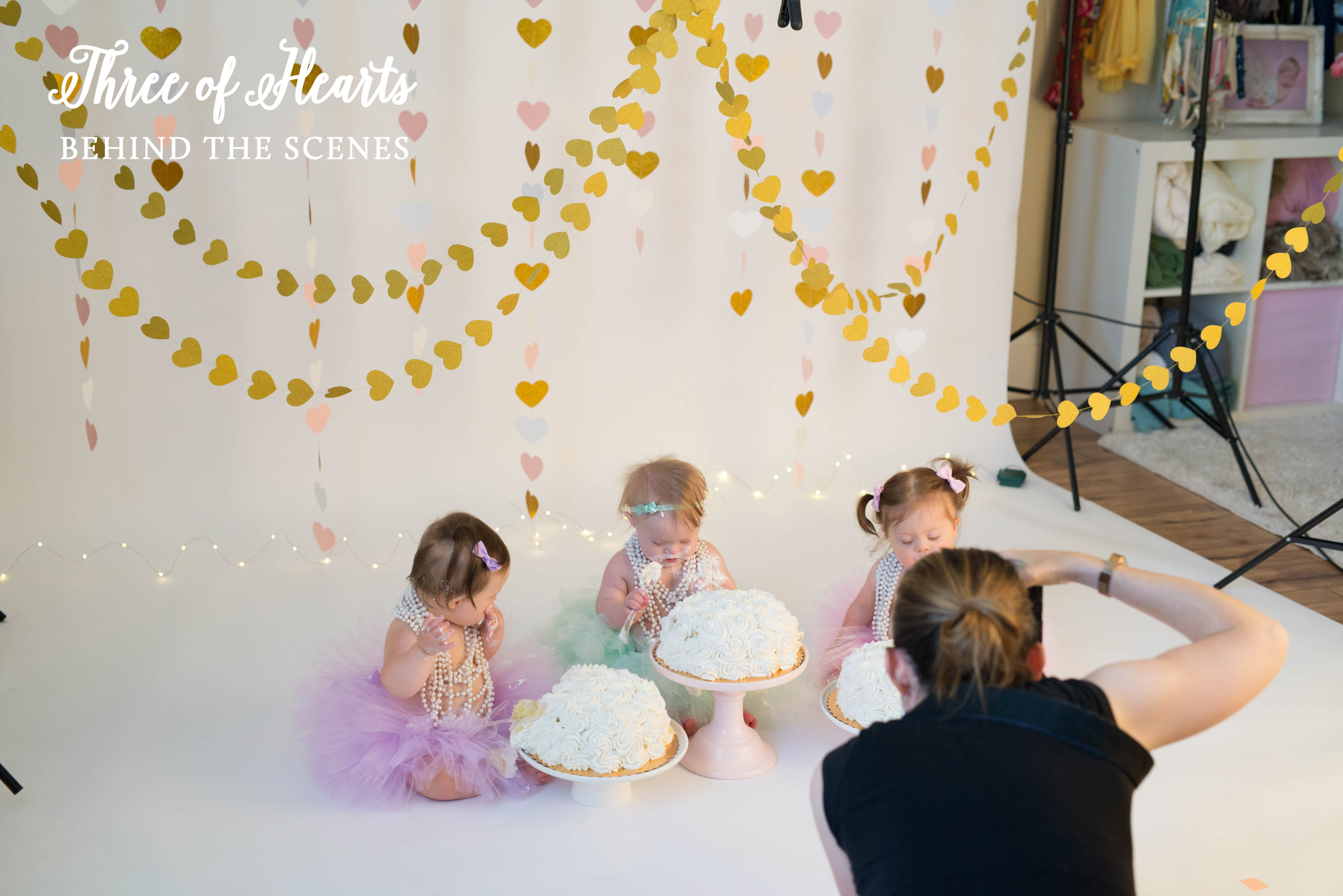three of hearts cake smash with nicole starr photography, for down syndrome awareness and congenital heart defect awareness