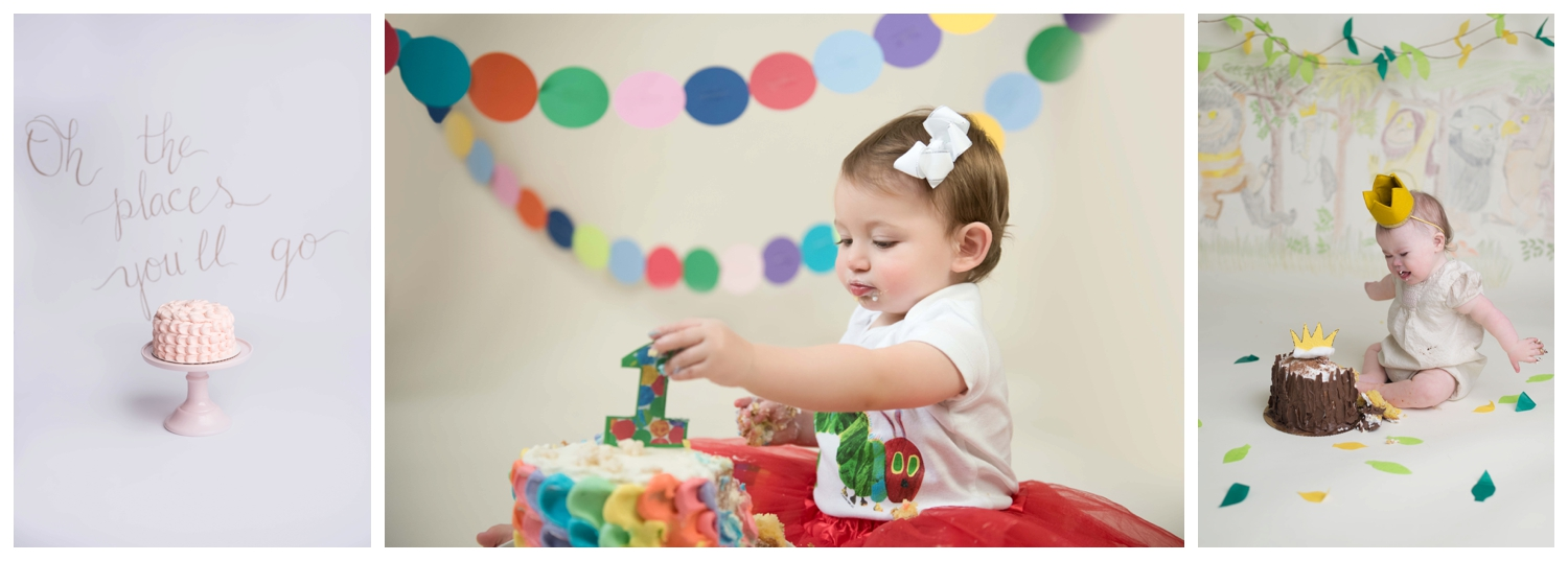 Cake Smash Themes with Children's Books, Nicole Starr Photography