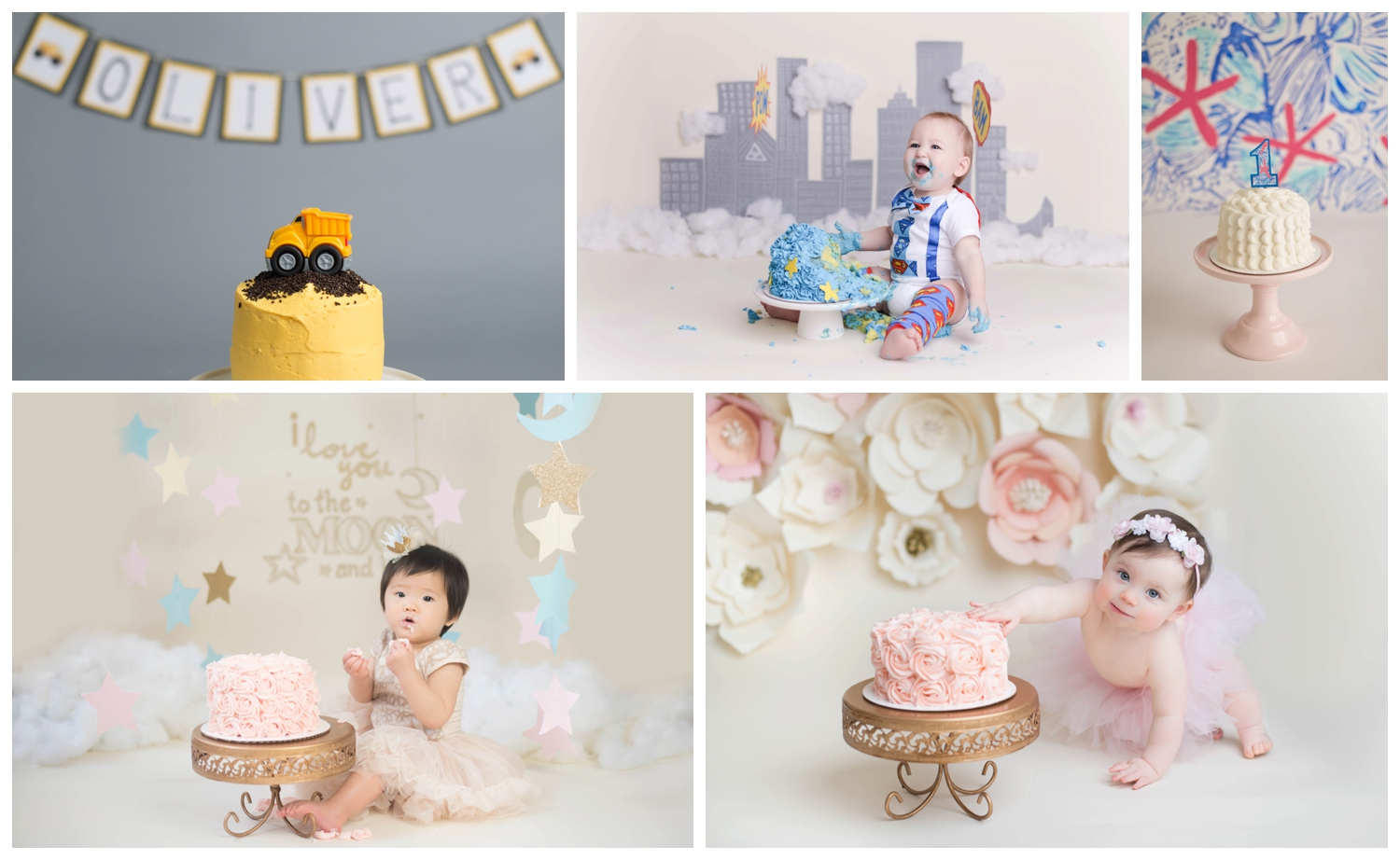 Cake Smash Themes, Nicole Starr Photography
