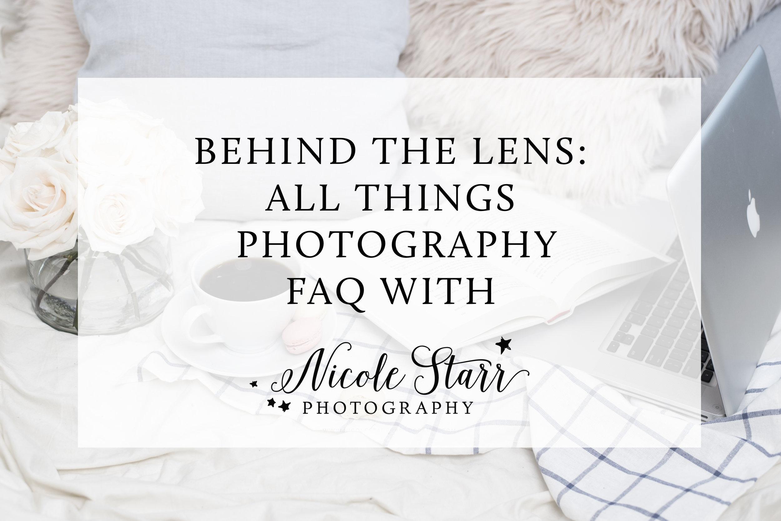 photographer FAQ with nicole starr
