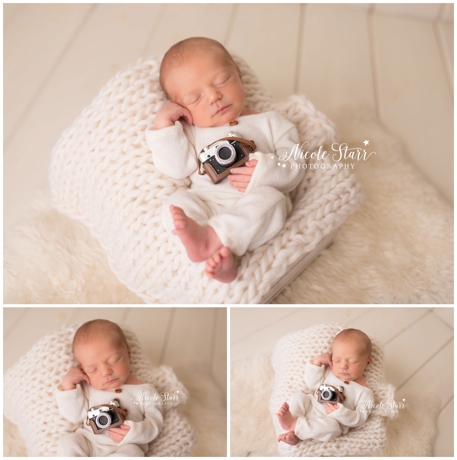 Nicole Starr Photography  |  Saratoga Springs and Boston Newborn Photographer  |  baby with camera prop  |  photographer baby