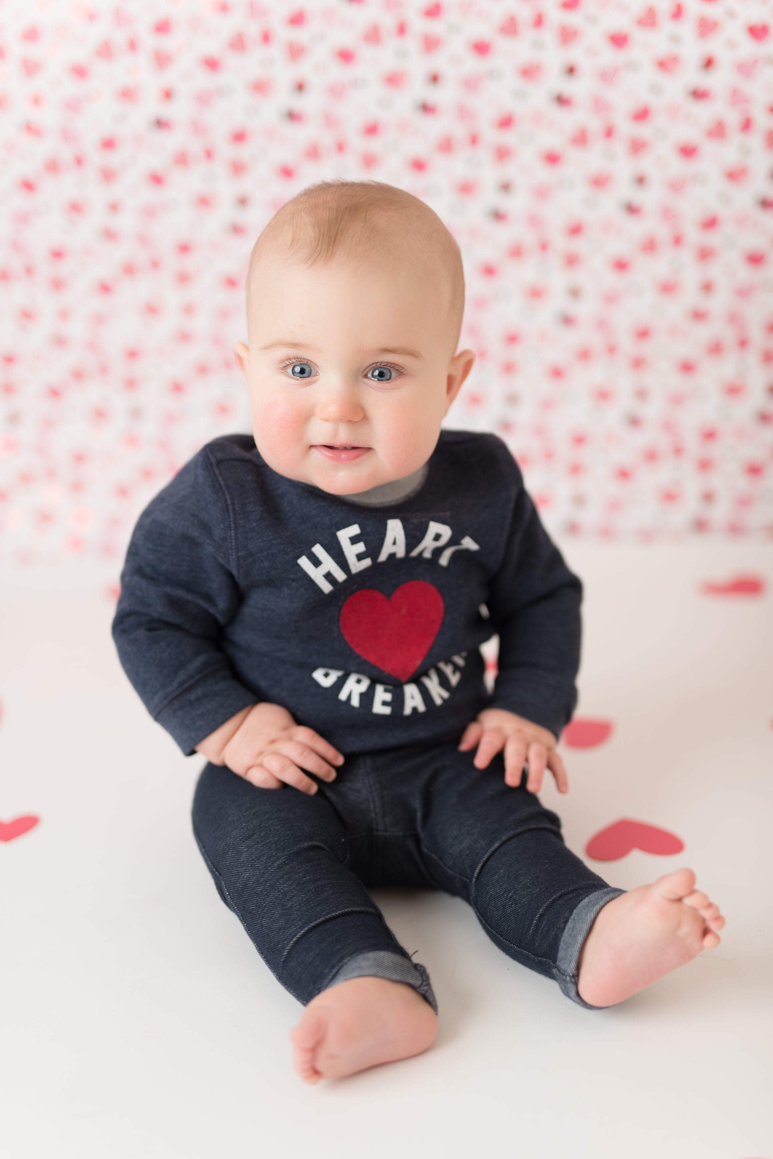 baby valentine photo shoot