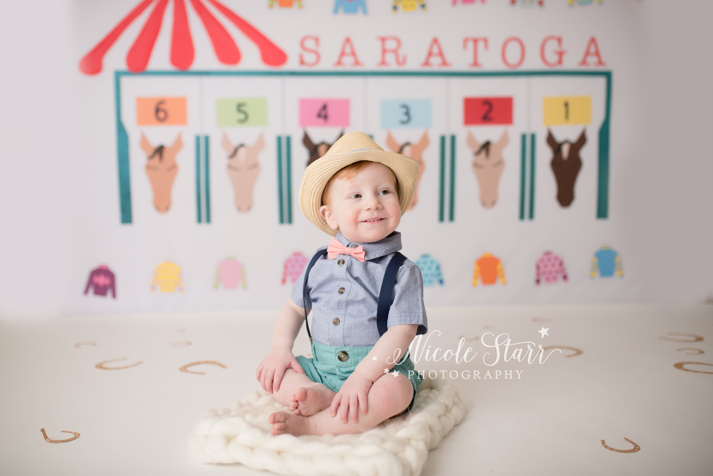 Nicole Starr Photography | albany cake smash photographer, horse race backdrop, saratoga springs baby photographer, saratoga springs cake smash photographer, saratoga springs family photographer, saratoga springs race track photo shoot, travers weekend photographer, saratoga springs photographer, saratoga springs new york