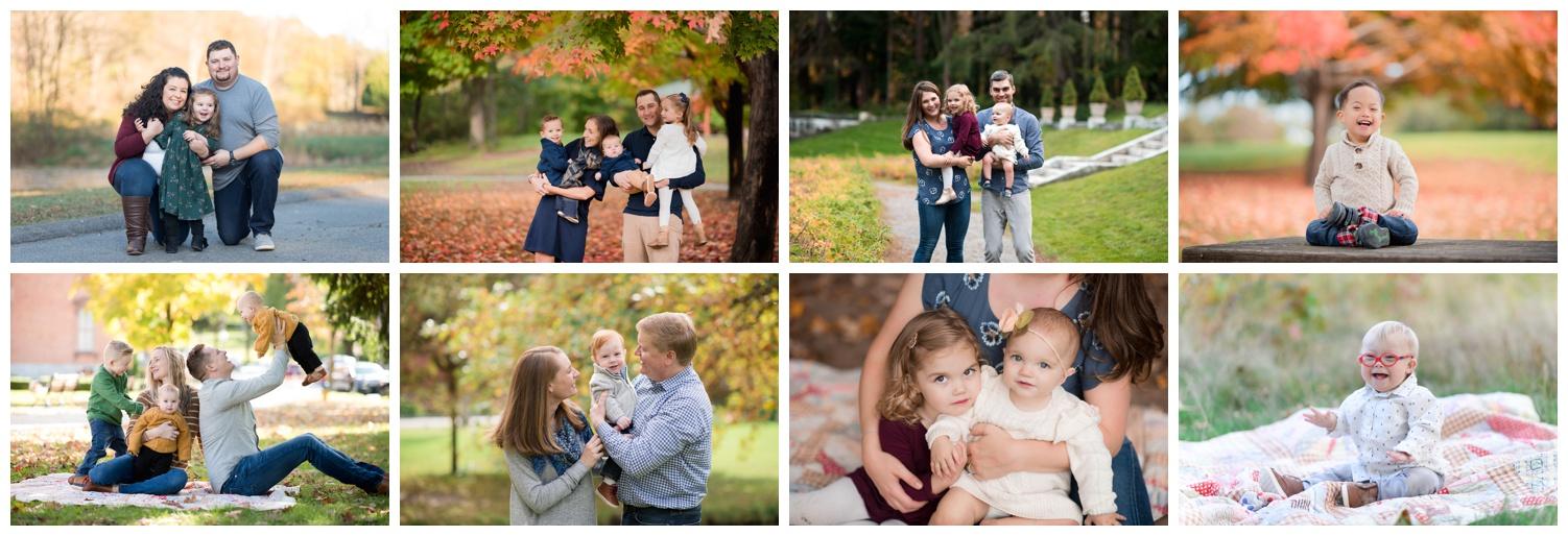 fall family mini session, foliage family photos, fall family photos saratoga springs, nicole starr photography