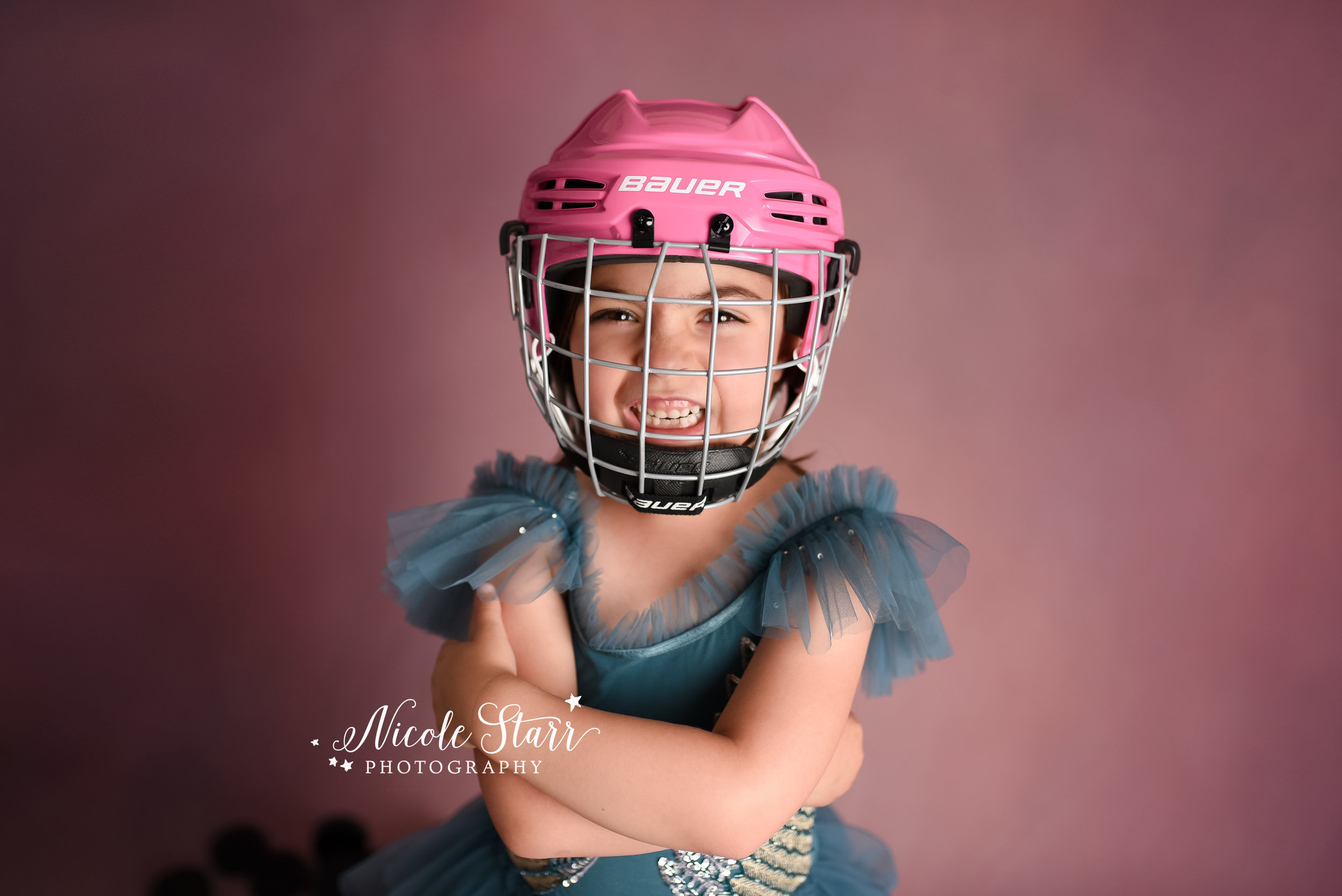 Nicole Starr Photography | Saratoga Springs Children's Photographer | Boston Children's Photographer | Upstate NY Children's Photographer | Children's Photographer | Delmar NY Children's Photographer | Loudonville Children's Photographer | Hockey birthday session, 7th birthday, hockey princess, Pretty but fierce, hockey player