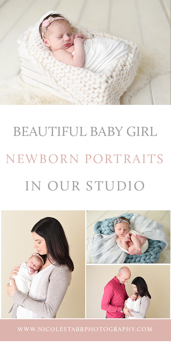 Nicole Starr Photography | Saratoga Springs Newborn Photographer | Boston Newborn Photographer | Upstate NY Newborn Photographer | Newborn Photographer | Delmar NY Newborn Photographer | Loudonville Newborn Photographer, Saratoga Springs baby photography studio, in studio newborn portraits, baby girl newborn portraits