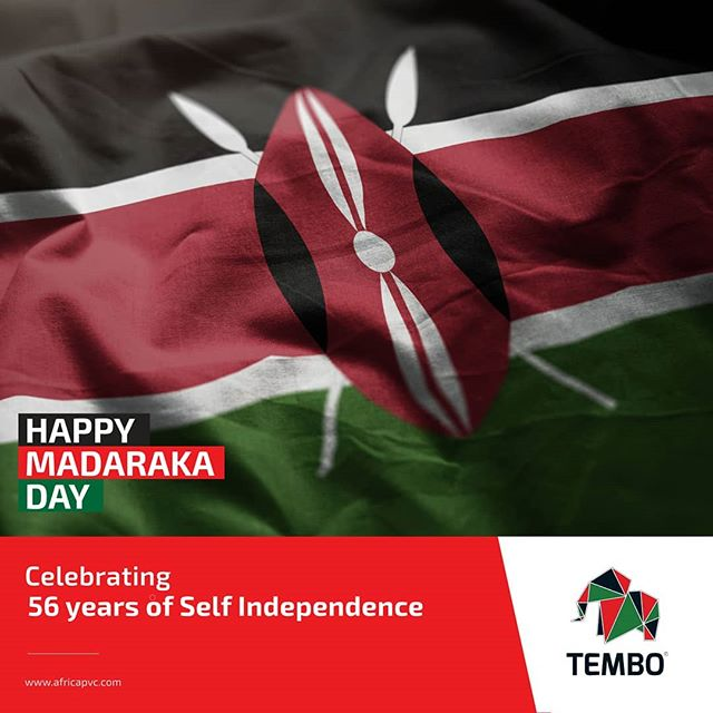 Celebrating 56 years of self independence. Happy Madaraka Day - www.africapvc.com