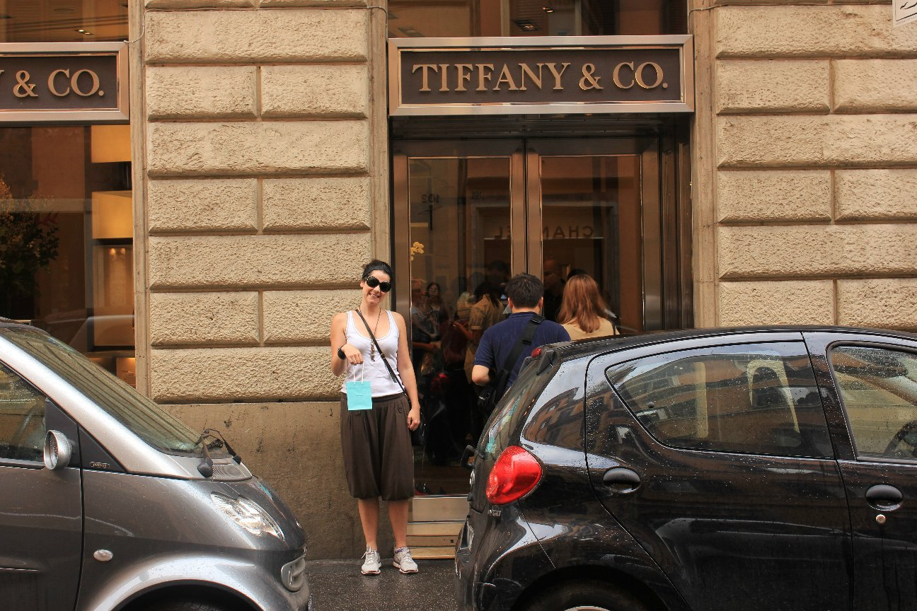 They still served me: my Tiffany & Co loot after a day of hiking around Rome