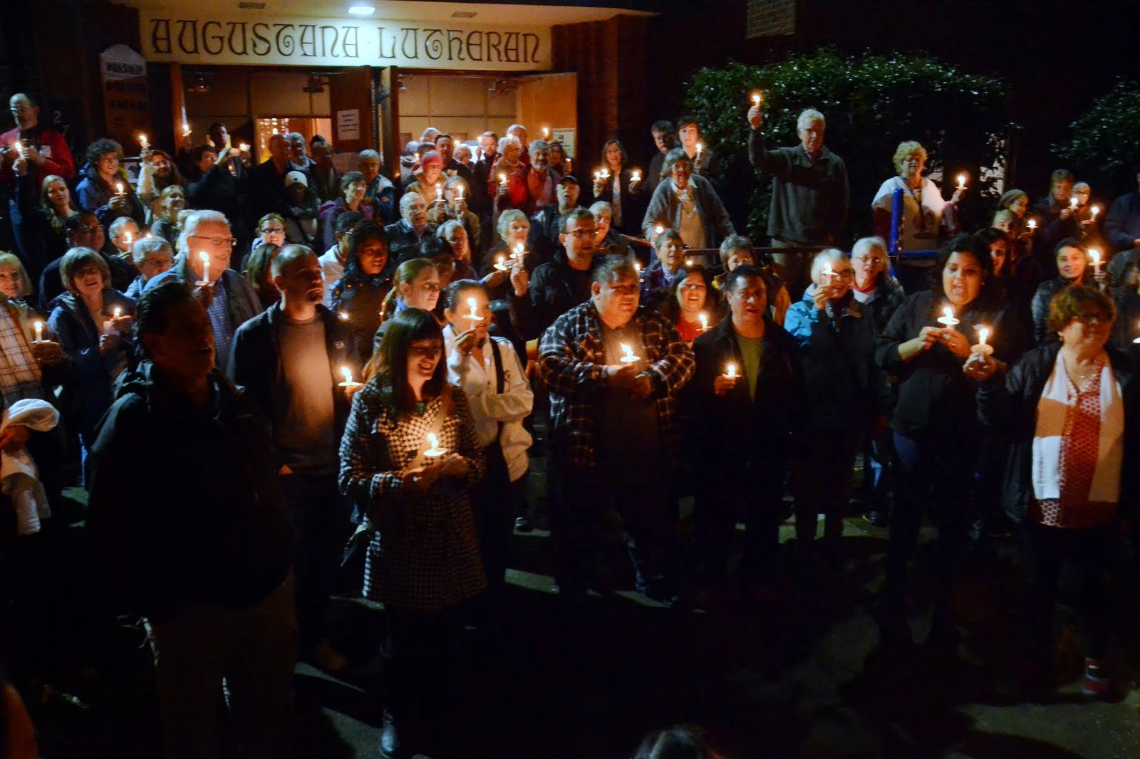 An IMIrJ vigil in support of immigrant rights.