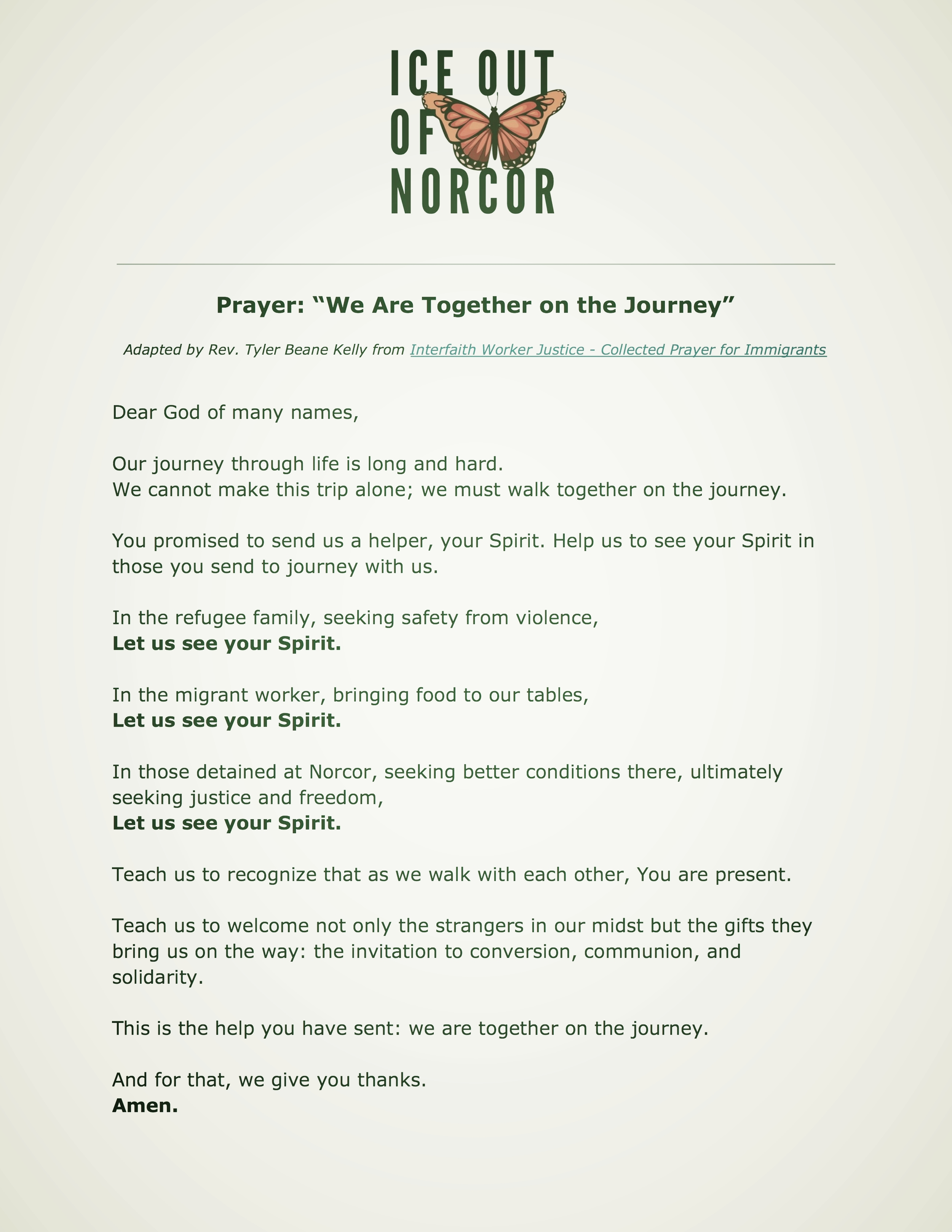 """Prayer: """"We Are Together on the Journey"""""""