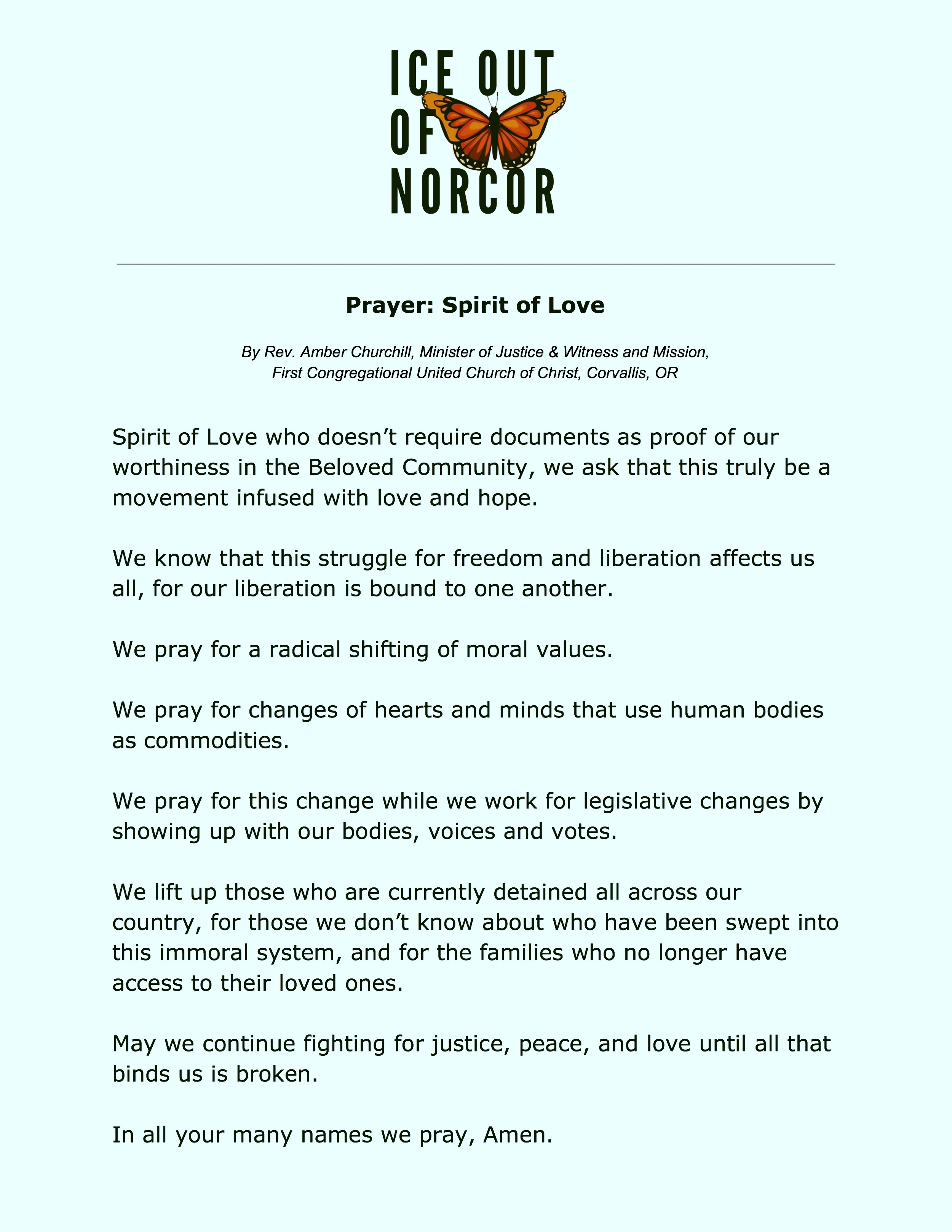 Prayer: Spirit of Love