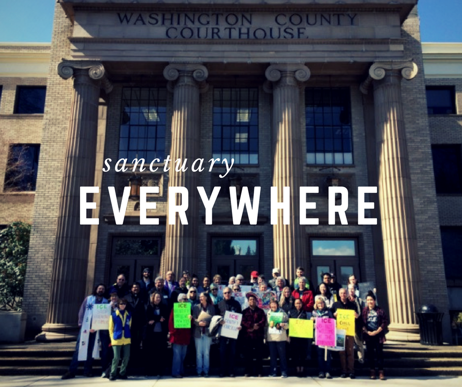 We call for... - safe, inclusive and welcoming communities. ICE's actions at our courthouses and entanglement with local law enforcement is making our communities less safe.
