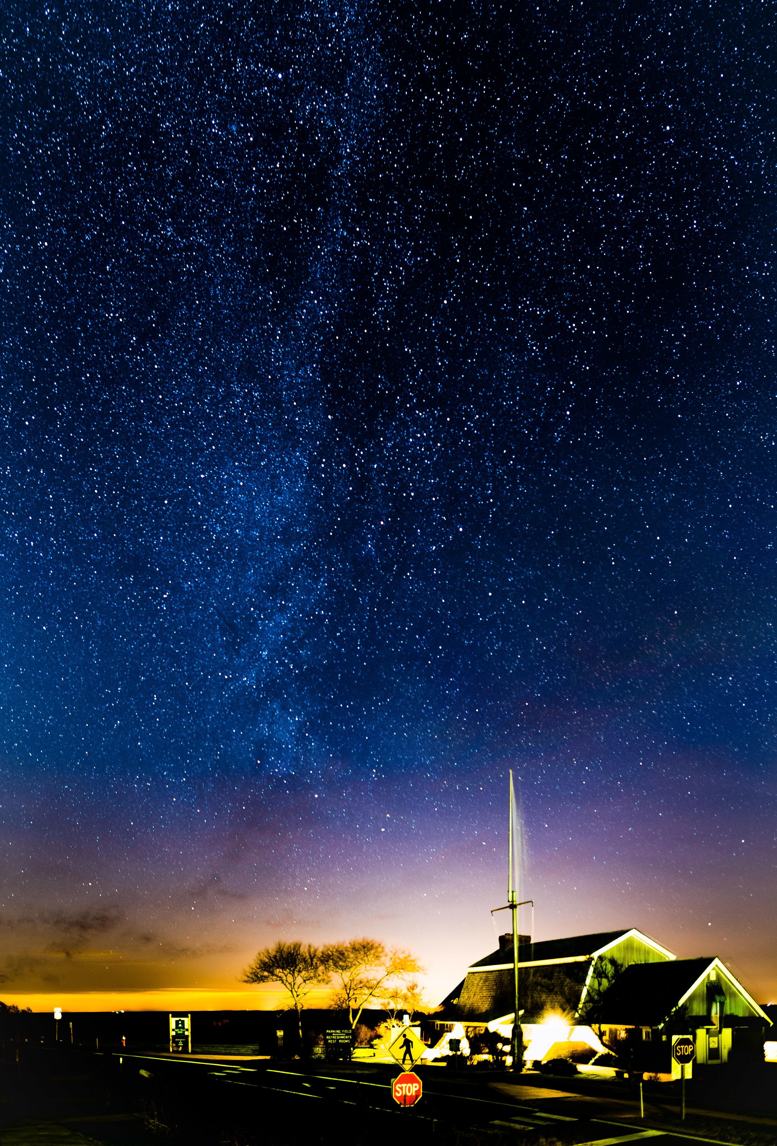 Stargazing at Montauk, NY.