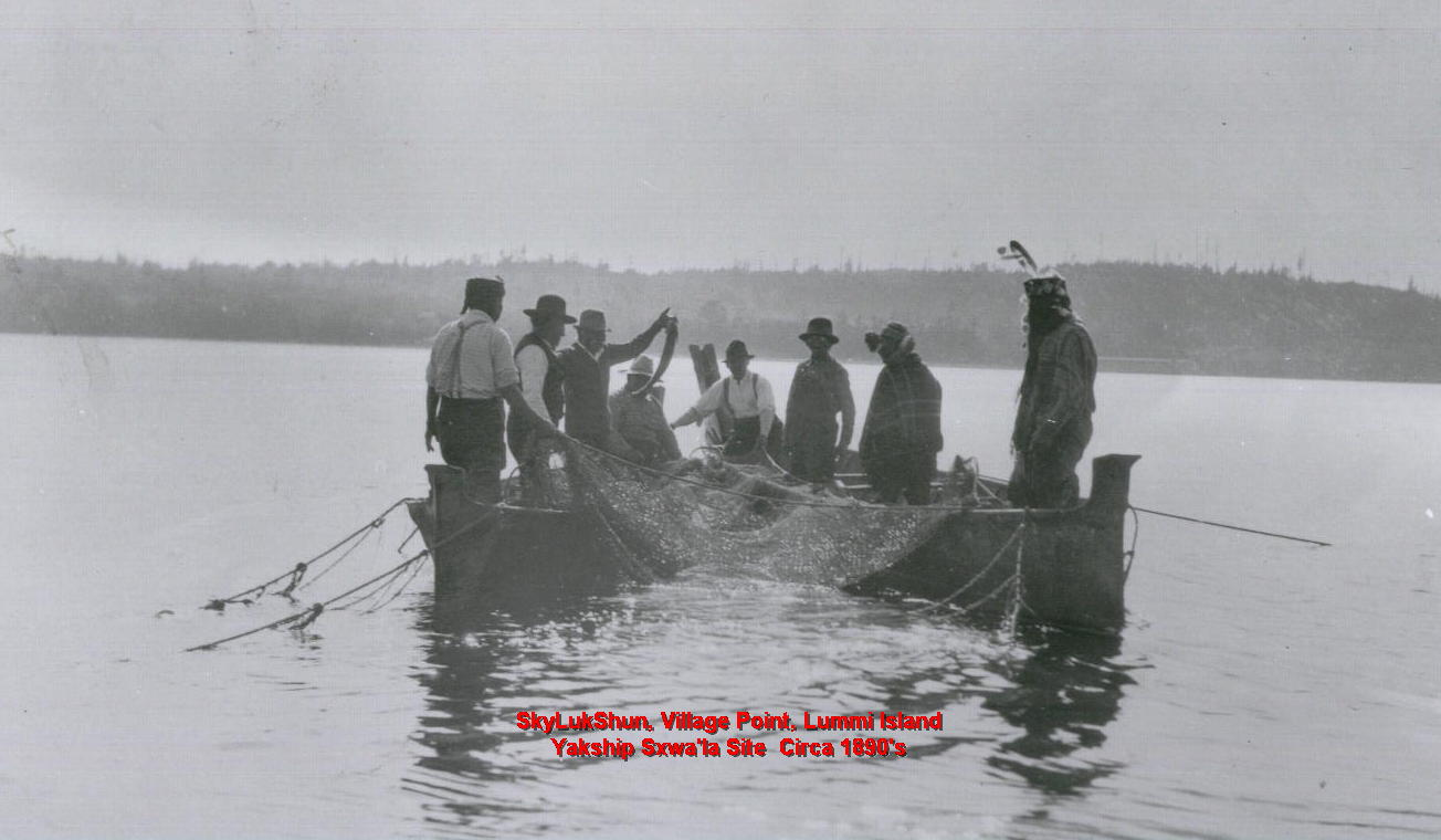 Lummi Reef Netting (ca. 1890). (Credit: Lummi Nation Archive)