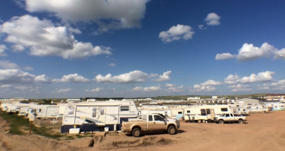 RV park that are homes of the oil workers in Watford City, ND. (Credit:  Tom Haines )