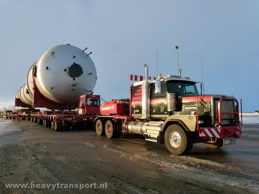 Megaload hauling evaporator for bitumen extraction. (Credit: Peter Robitaille)