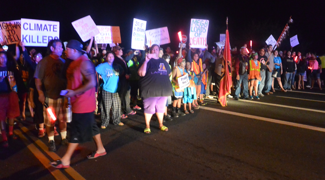 Nez Perce Blockade in Zoll, Idaho. (Credit: Tom Hansen)