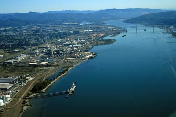 Port of Longview in Longview, Washington (Credit: Bret VandenHeuvel)