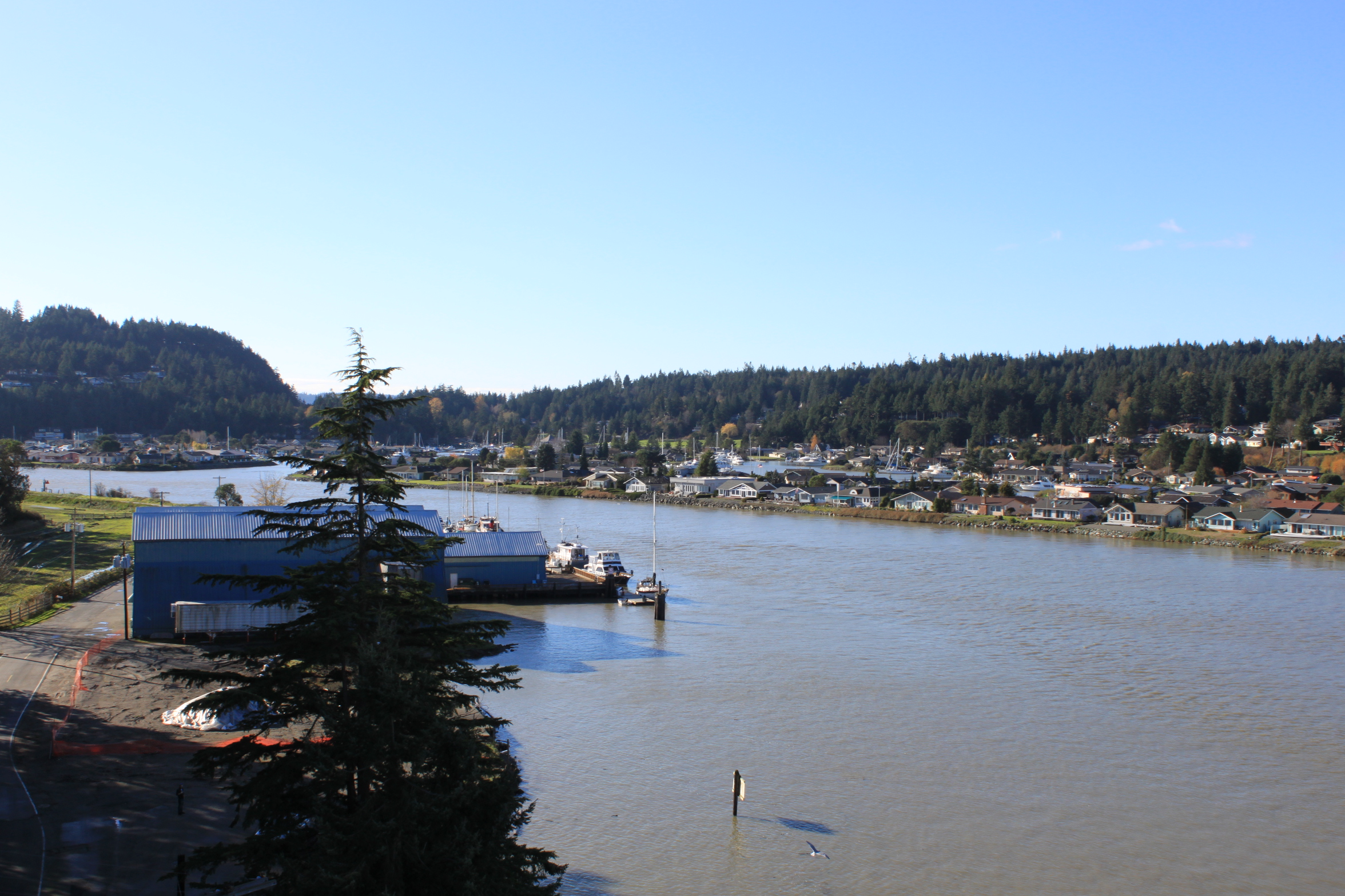 View from the Swinomish Channel Bridge Overlooking Part of the Reservation. (Credit: Ali Johnson)