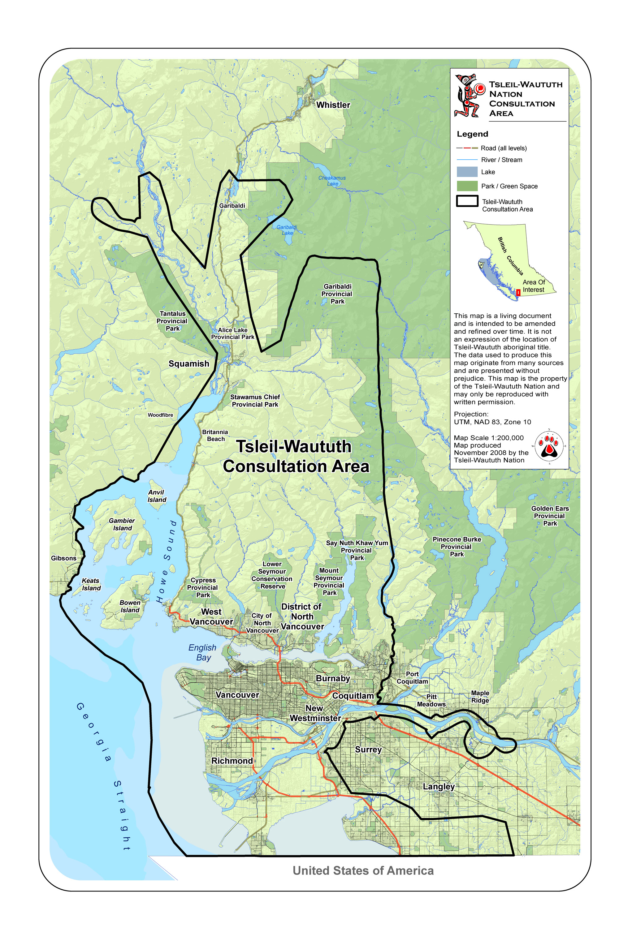 The traditional area of the Tsleil-Waututh Nation, which includes Vancouver and Burnaby, B.C. (credit: Tsleil-Waututh).