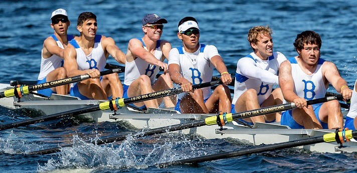 Brother Andy Selius (left), UCLA Rowing