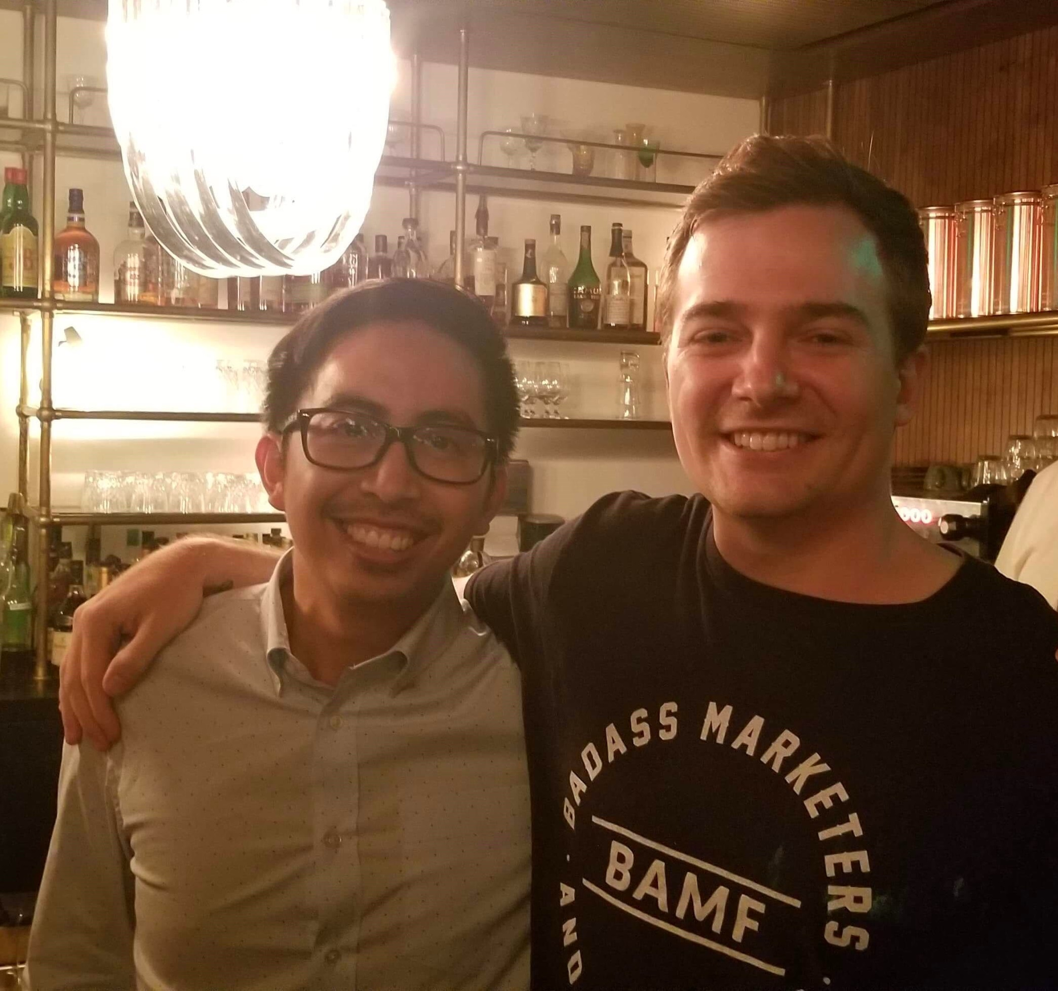 ME WITH THE LEGENDARY JOSH, BAMF'S FOUNDER. I CONSIDER THIS GUY ONE OF THE BEST GROWTH MARKETERS IN THE WORLD.