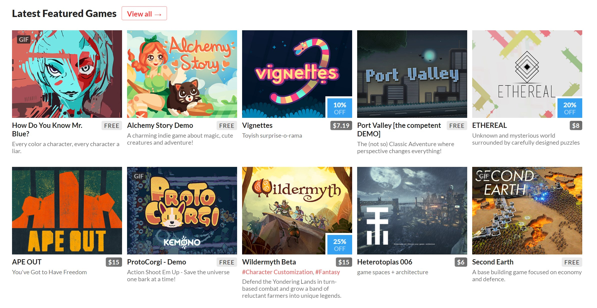 INDIE GAME REPOSITORIES AND DIRECTORIES WERE A GOLD MINE