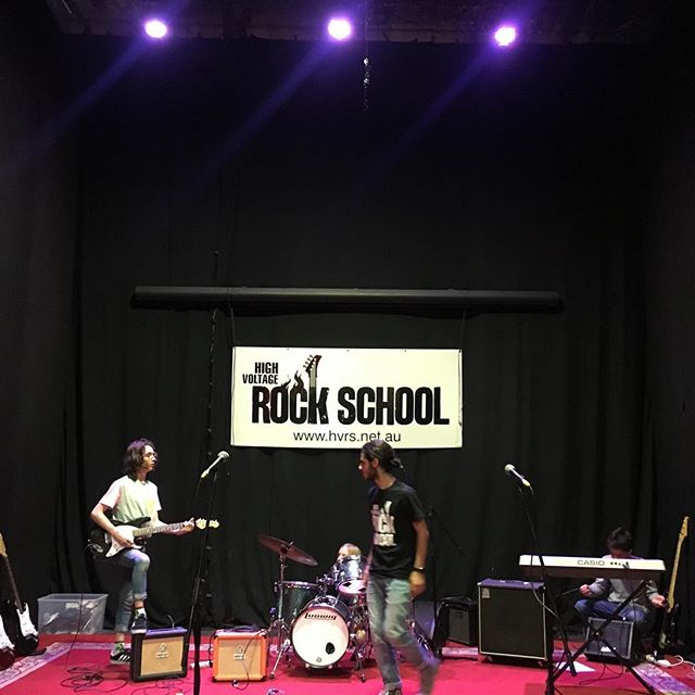 The stage is set! Looking forward to hearing over 30 of our finest bands rock out today @kindredstudios come and check 'em out from 1 to 4 today! . .  #endofyearshow #schoolofrock #kidsmusic #gigs #concert #guitars #bass #keyboard #drums #ampeg #ludwig