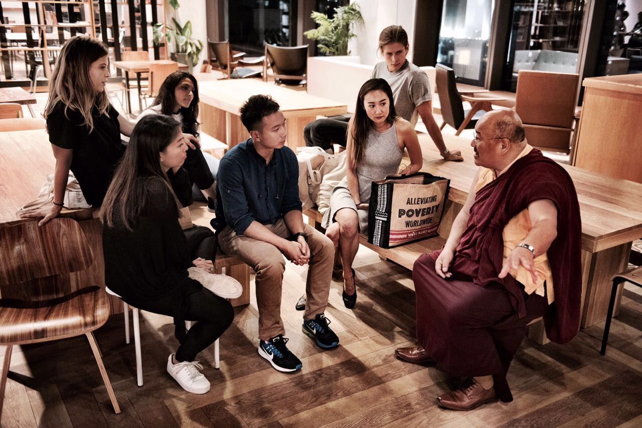 May 2017, Hong Kong. Khenpo Lungtaen Gyatso presented 'Universal Human Values' to Metta members, HKUST and the {embrace} worldwide community.