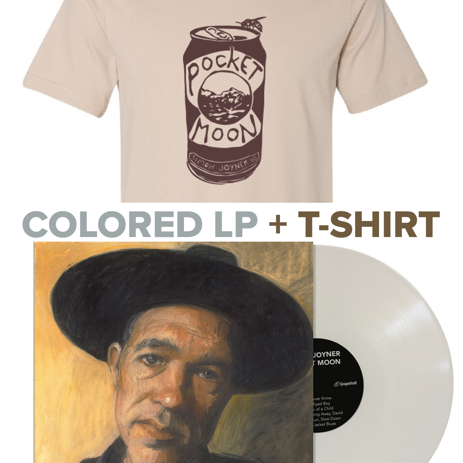 T-Shirt with colored or black Vinyl or CD