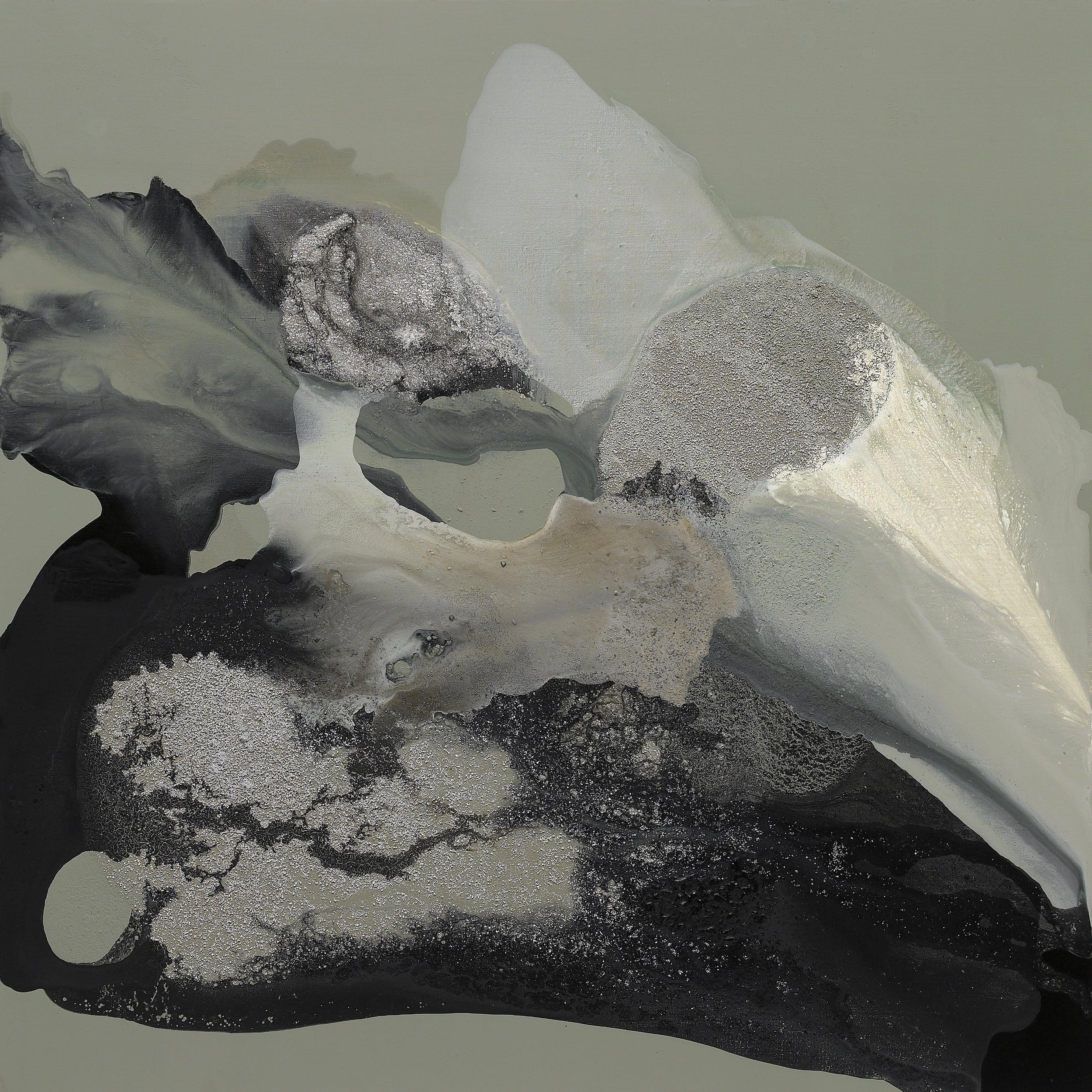 figure_01  acrylic and pumice  gel on canvas  130 cm X 130 cm  2014