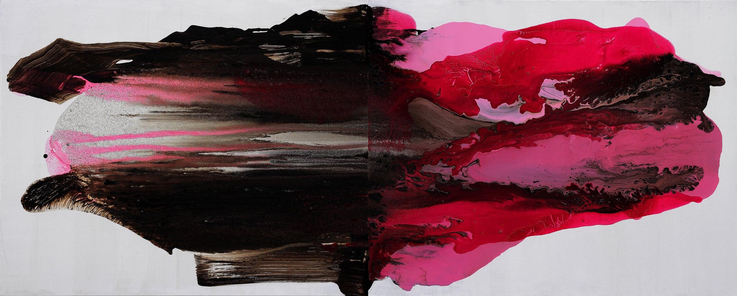 figure_18  acrylic and pumice  gel on canvas  181.8 cm X 72 cm  2014