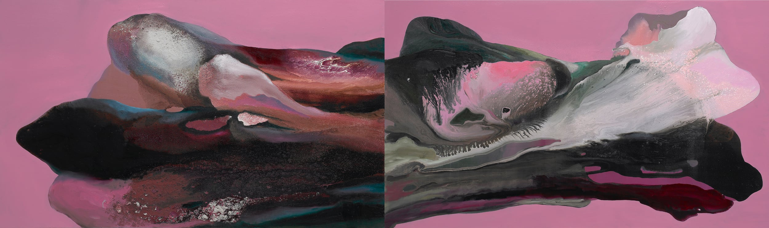 figure_17  acrylic and pumice  gel on canvas  324 cm X 97 cm  2015