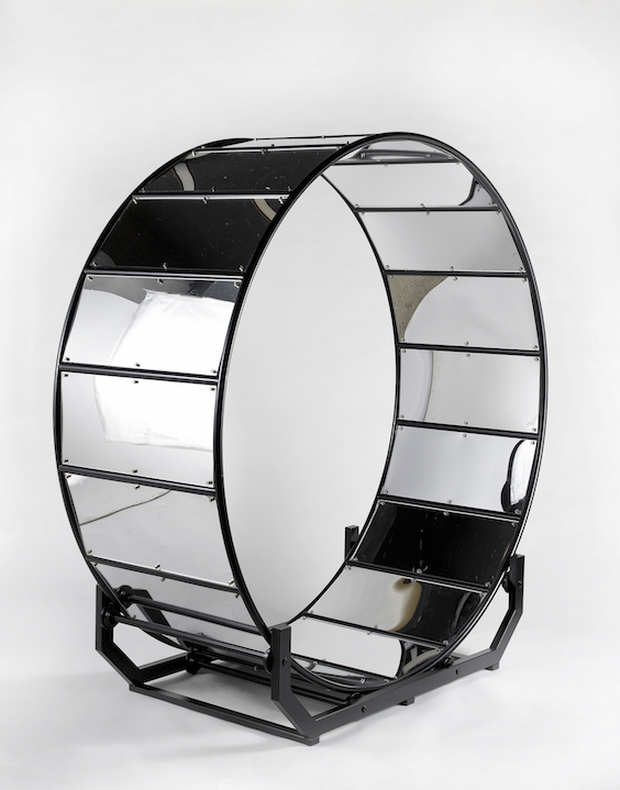 Hamster wheel with mirrors 175 X 170 x 65 cm 2015