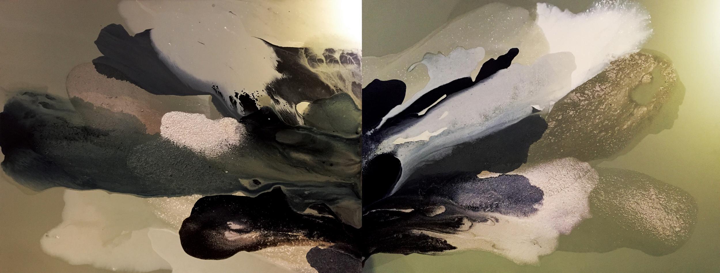 figure_19  acrylic and pumice  gel on canvas  290 cm X 112 cm  2015