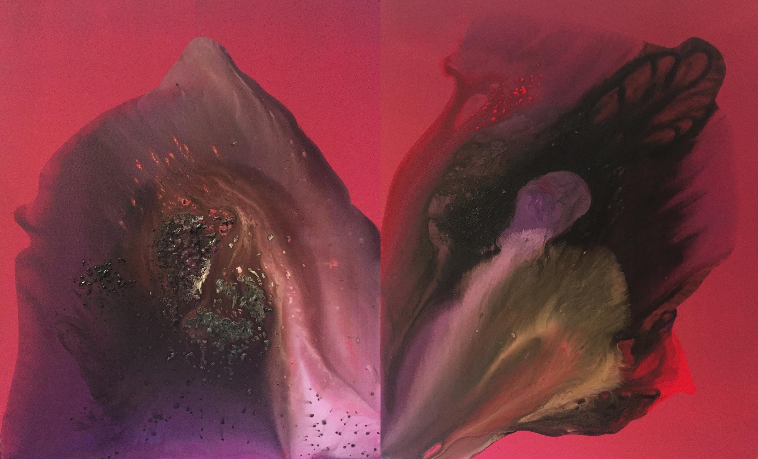 figure_13  acrylic and pumice  gel on canvas  122 cm X 73 cm  2015