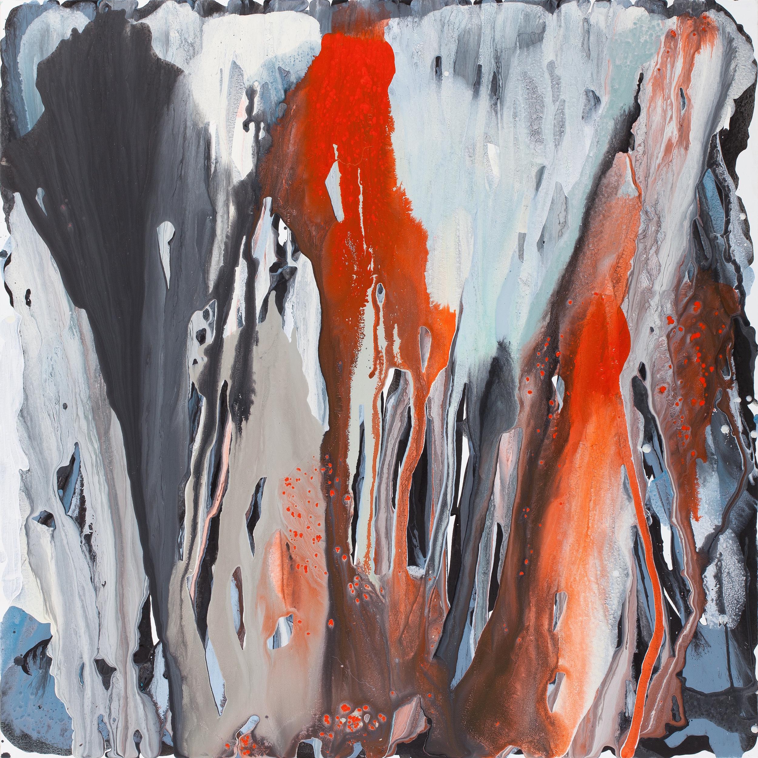 fall_08  acrylic on canvas  130 cm X 130 cm  2012