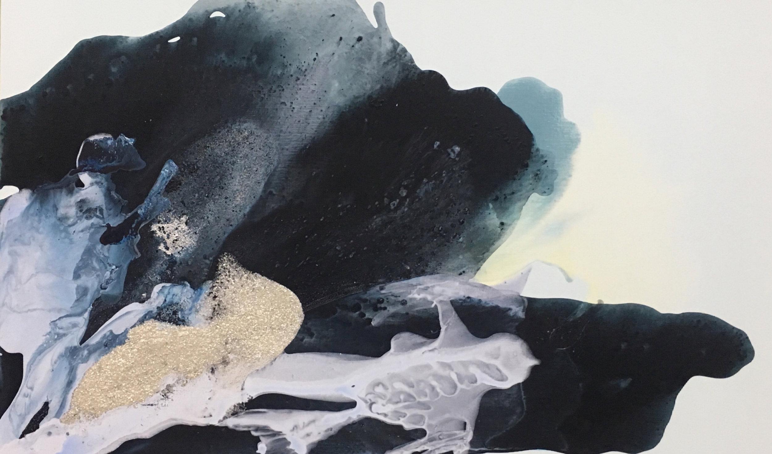 figure_05  acrylic and pumice  gel on canvas  130 cm X 86 cm  2016