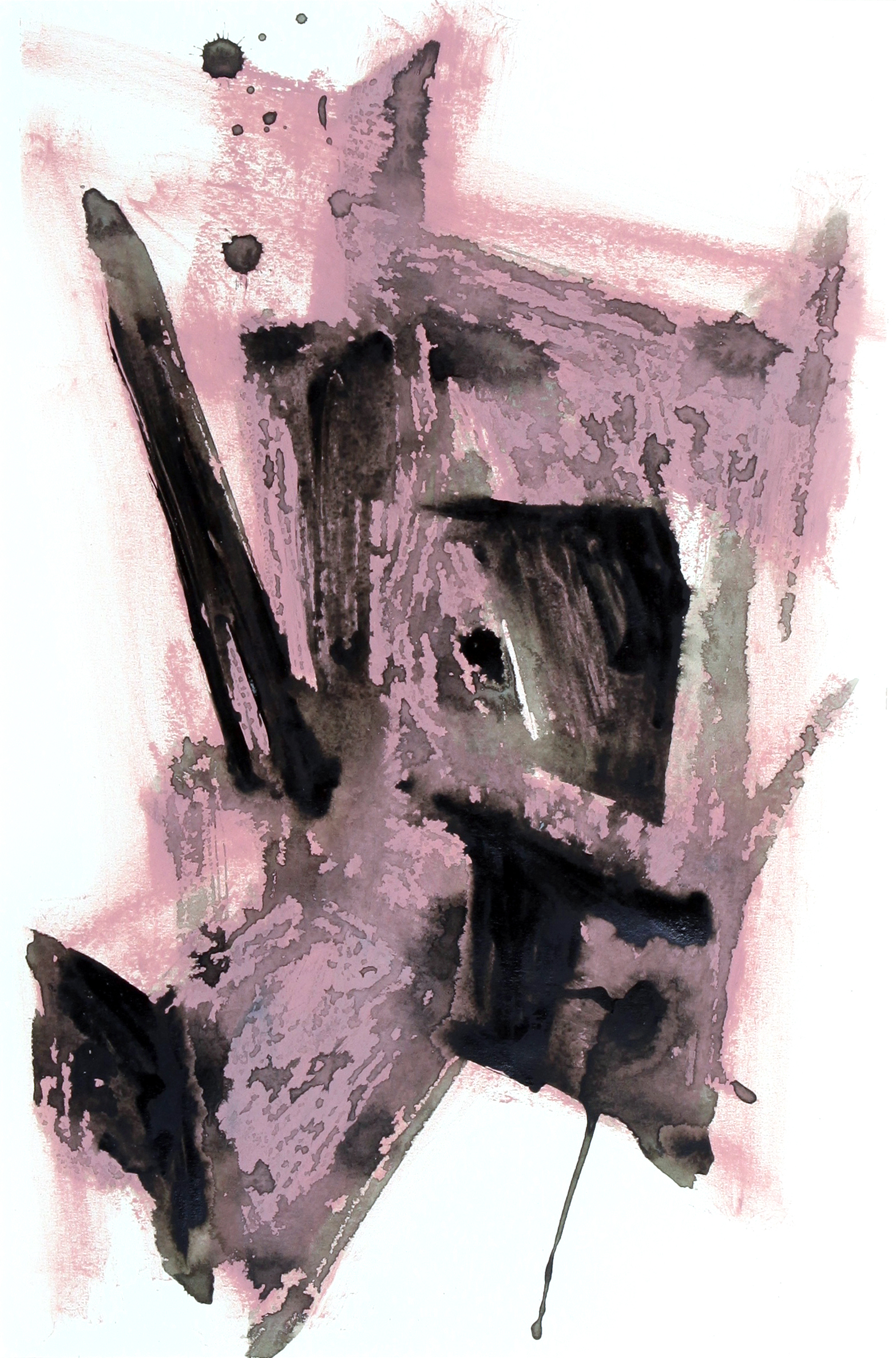 box_02  oil stick and acrylic on paper  38 cm X 55 cm  2014