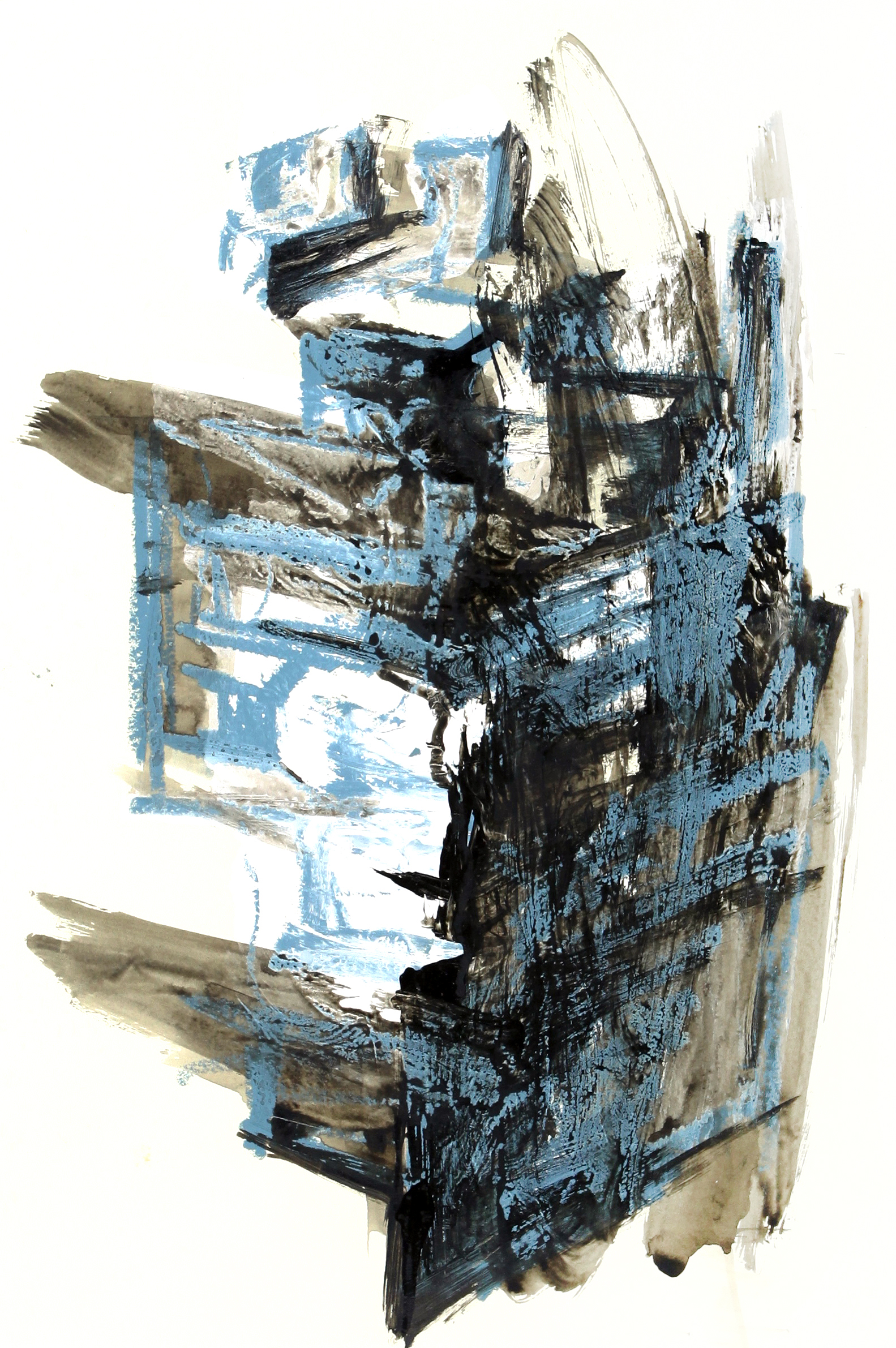 box_01  oil stick and acrylic on paper  38 cm X 55 cm  2014