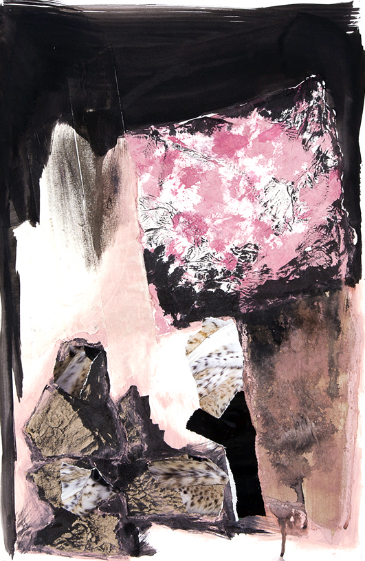 box_03  acrylic and collage on paper  38 cm X 55 cm  2014