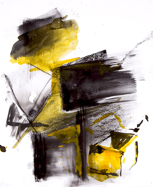box_04  charcoal and acrylic on paper on paper  48 cm X 55 cm   2014