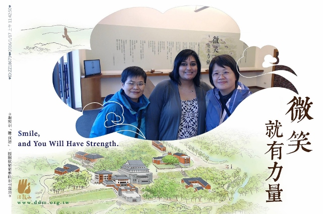 Raye, Ann and I at Dharma Drum Mountain during our road trip around the North Coast ofTaiwan